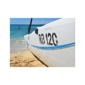 Playa tropical de Barbados Impresión En Lienzo