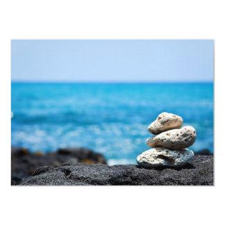 Playa tropical del océano coralino de Hawaii de la Invitación 11,4 X 15,8 Cm