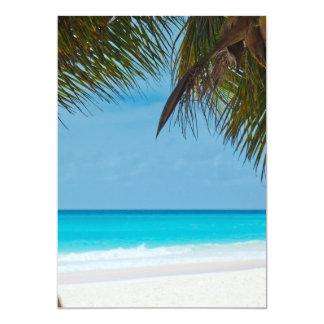 Playa tropical perfecta del paraíso invitación 12,7 x 17,8 cm