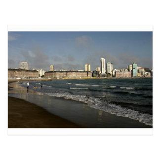 Playa urbana la Argentina de Mar del Plata Postal
