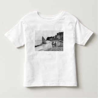 Playa y barcos Honolulu de Waikiki Camiseta De Bebé