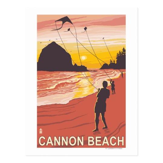 Playa y cometas - playa del cañón, Oregon Postal