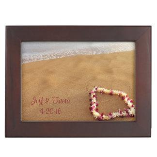 Playa y leus que casan la caja del recuerdo