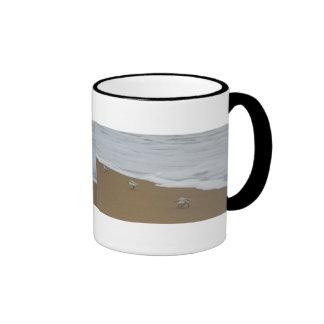 Playa y Sanderlings de Oregon Taza De Dos Colores