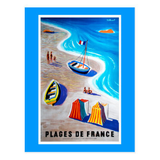 Playas de la postal de Francia