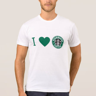 Playera I love Starbucks
