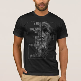 "playera ""perro labrador - the only thing """