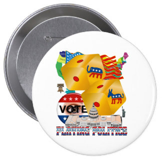Playing-Politics-V-1 Chapa Redonda De 10 Cm