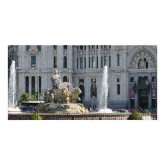 Plaza de Cibeles, tarjeta de la foto de Madrid