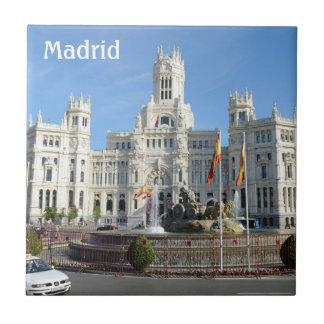 Plaza de Cibeles, teja de Madrid