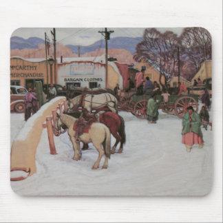 Plaza de Taos, invierno Mousepad 1921