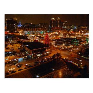 Plaza del club de campo Kansas City luces del dí Tarjeta Postal