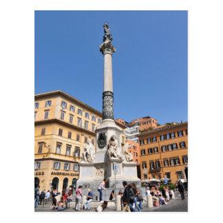 Plaza Navona en Roma, Italia Postal