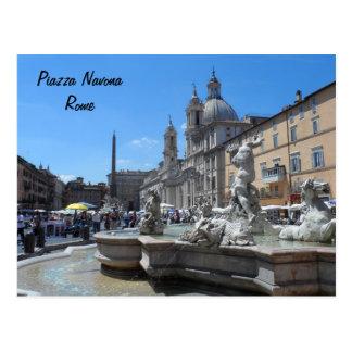 Plaza Navona- Roma, Italia Postal