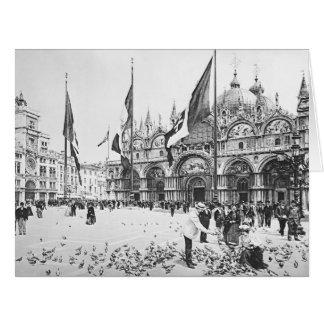 Plaza San Marco 1895 Tarjeta De Felicitación Grande