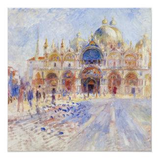 Plaza San Marco Venecia de Pierre-Auguste Renoir Invitación 13,3 Cm X 13,3cm