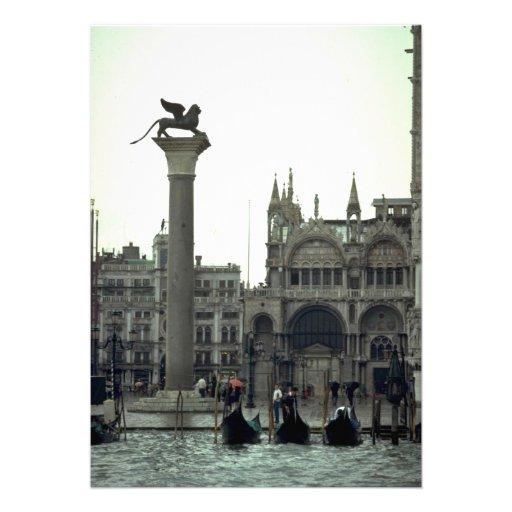 Plaza San Marco, Venecia, Italia Invitacion Personal