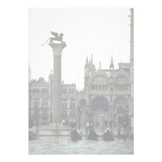 Plaza San Marco Venecia Italia Invitacion Personal