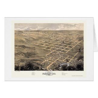 Pleasant Hill, mapa panorámico del MES - 1869 Tarjeta De Felicitación