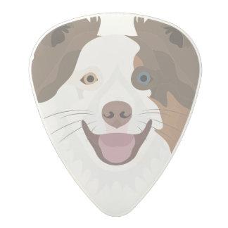 Plectro De Carbonato Border collie feliz de la cara de los perros del
