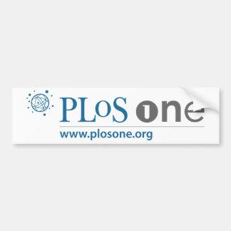 PLoS UNA pegatina para el parachoques del logotipo Etiqueta De Parachoque