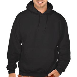 PLoS UNA sudadera con capucha del logotipo (oscura