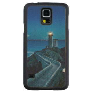Plouzane, Francia, faro Funda De Arce Para Galaxy S5 De Carved