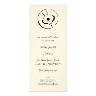 Pluma caligráfica invitación 10,1 x 23,5 cm