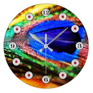 Pluma de Shirley Taylor Reloj Redondo Grande