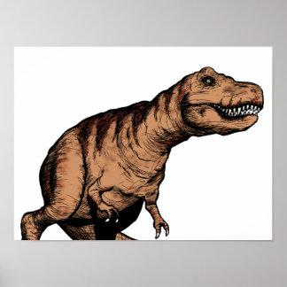 Pluma de T-Rex y ejemplo de la tinta Póster