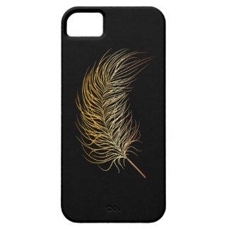 Pluma del oro iPhone 5 fundas