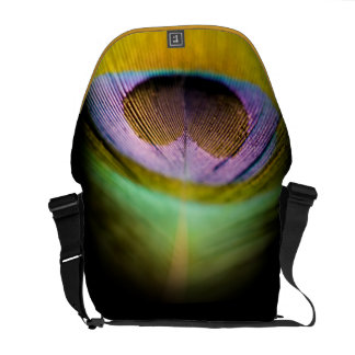 Pluma del pavo real bolsas messenger