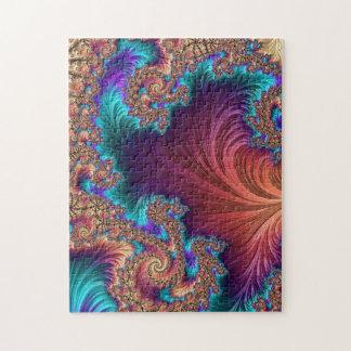 Pluma del pavo real puzzle