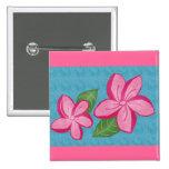 Plumaria rosados en el botón de la turquesa