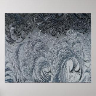 Plumas abstractas del gris del fondo póster