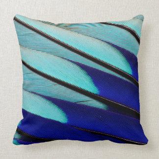 plumas Azul-hinchadas del rodillo Cojín Decorativo