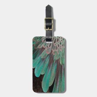 Plumas de ave del paraíso magníficas etiquetas para maletas