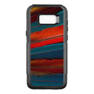 Plumas de cola del Macaw del escarlata Funda Otterbox Commuter Para Samsung Galaxy S8+
