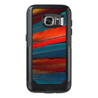 Plumas de cola del Macaw del escarlata Funda Otterbox Para Samsung Galaxy S7