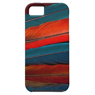 Plumas de cola del Macaw del escarlata Funda Para iPhone SE/5/5s
