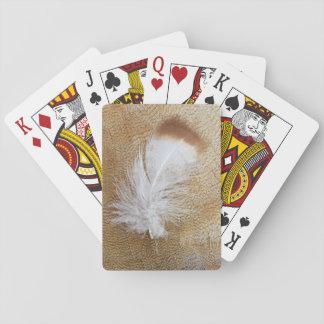 Plumas delicadas del ganso baraja de cartas