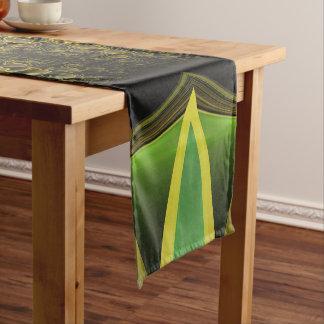 Plumas hermosas del fractal del pájaro de quetzal camino de mesa corto