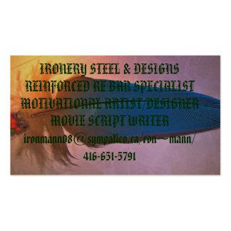 plumas nativas modificadas, ACERO de IRONERY Tarjetas De Visita