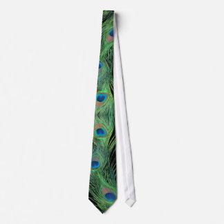 Plumas verdes con la corbata negra de la vida del