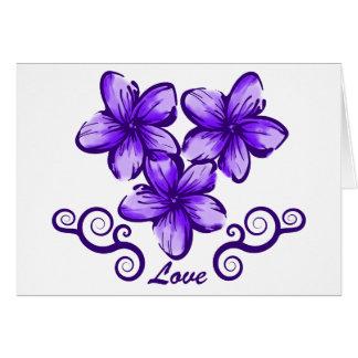 Plumeria de Hawaii del amor Felicitación