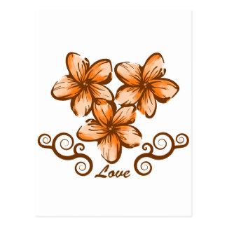 Plumeria de Hawaii del amor Postal