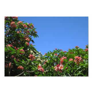 Plumeria hawaiano invitación 12,7 x 17,8 cm