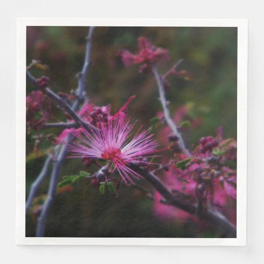 Plumero de hadas rosado servilleta de papel