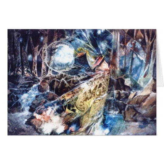 PMACarlson Birdman en la tarjeta de maderas