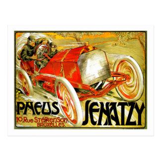 Pneus cansa el poster de Bruselas de la carrera de Postal